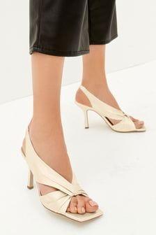 Bone Signature Leather Twist Detail Sandals