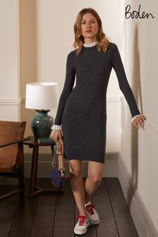 Boden Grey Beatrice Knitted Dress