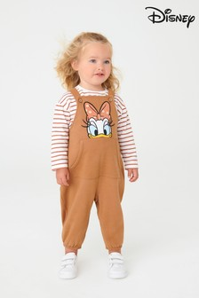 Caramel Brown Daisy Duck Dungarees And T-Shirt Set (3mths-7yrs)