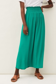 Phase Eight Green Grace Shirred Maxi Skirt