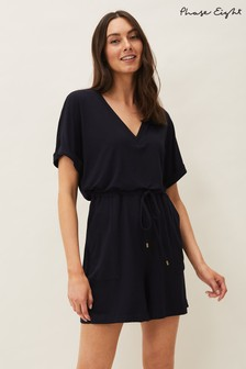 Phase Eight Blue Maria Jersey Playsuit