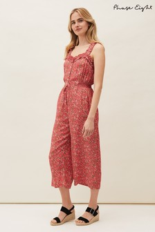 Phase Eight Pink Marisole Ditsy Print Jumpsuit