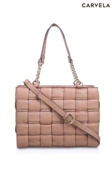 Carvela Camel Lexi Weave Tote Bag