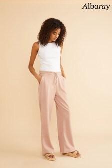 Albaray Pink Sweat Wide Leg Pants