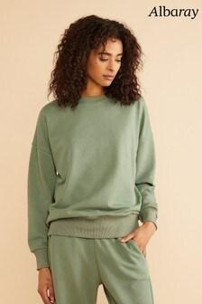 Albaray Green Crew Neck Sweatshirt