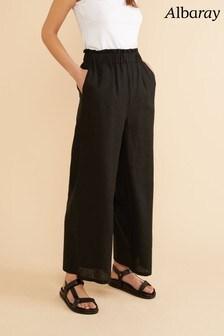 Albaray Black Ruffle Waist Trousers