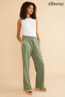 Albaray Green Sweat Wide Leg Pants