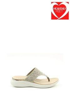 Heavenly Feet Rose Ladies Grey Sandals