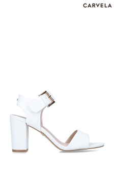 Carvela White Sadie Sandals