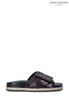 Kurt Geiger London Brown Daniella Slide Sandals
