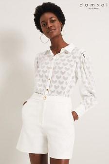 Damsel In A Dress Cream Sindy Textured Blouse