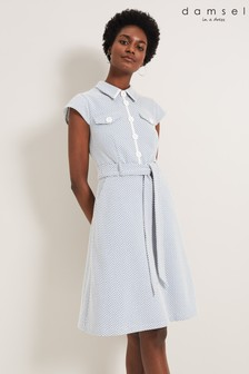 Damsel In A Dress Blue Issie Textured Check Dress