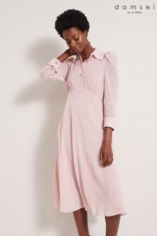 Damsel In A Dress Natural Fraya Textured Dress