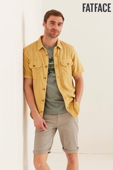FatFace Yellow Utility Twill Shirt