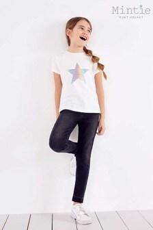 Mintie by Mint Velvet Black Let Down Hem Skinny Jeans