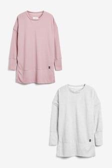 Pink/Grey Waffle Tunics 2 Pack