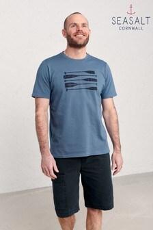 Seasalt Cornwall Blue Men's Midwatch T-Shirt