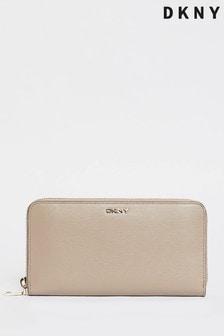 DKNY Tan Bryant Leather Zip Purse