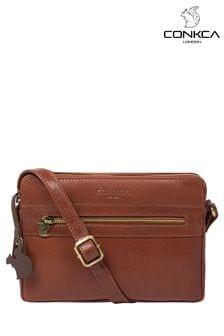 Conkca Drew Leather Cross Body Bag