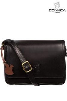 Conkca Marta Leather Cross Body Bag