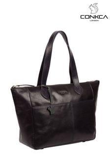 Conkca Harp Leather Tote Bag
