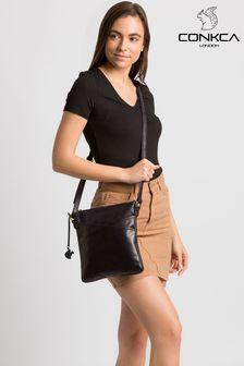 Conkca Avril Leather Cross Body Bag
