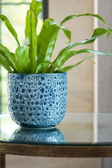 Ivyline Sapphire Reactive Glaze Planter