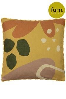 Furn Yellow Blume Cushion