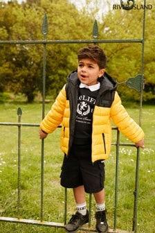 River Island Yellow Arnie Padded Jacket