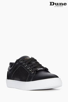 Dune London Black Estee Mixed-Material Trainers