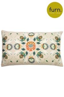 Furn Multi Folk Floral Cushion