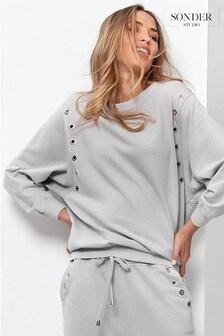 Sonder Studio Eyelet Lounge Sweatshirt