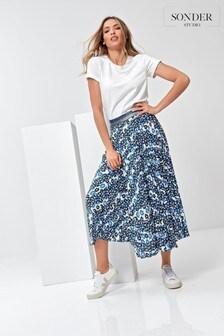 Sonder Studio Ditsy Animal Pleated Skirt