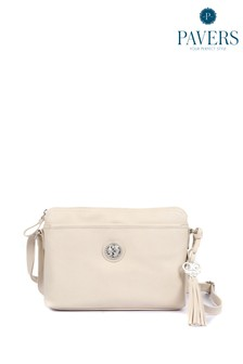 Pavers Cream Ladies Small Cross-Body Bag