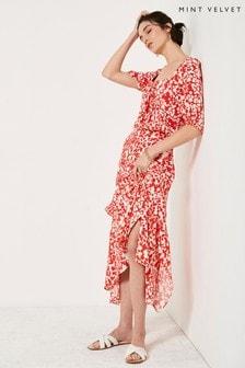 Mint Velvet Elizabeth Floral Midi Skirt