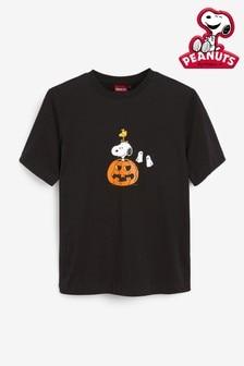 Licence Snoopy Halloween Short Sleeve Crew Neck T-Shirt