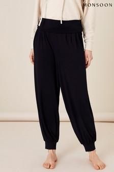 Monsoon Black Lounge Heidi Jersey Hareem Trousers