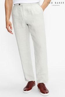 Ted Baker Radiot Pleated Herringbone Turn-Up Trousers