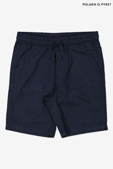 Polarn O. Pyret Blue Organic Cotton Smart Shorts