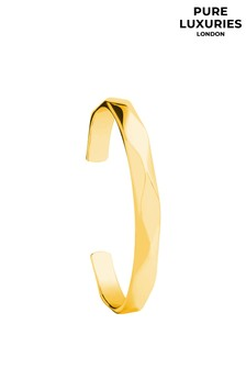 Pure Luxuries London Aurelle Yellow Gold Plated Sterling Silver Bangle