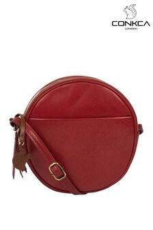 Conkca Rolla Leather Cross-Body Bag