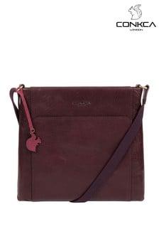Conkca Lina Leather Cross Body Bag