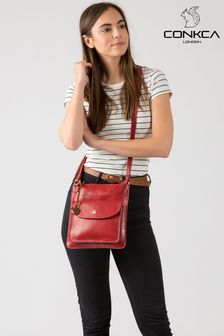 Conkca Lauryn Leather Cross Body Bag