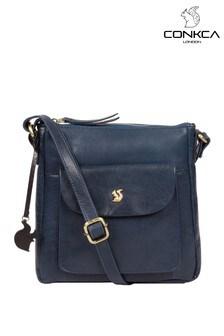Conkca Shona Leather Cross Body Bag