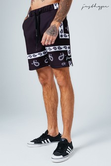 Hype. Black Paisley Shorts