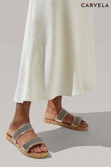 Carvela Comfort Gold Samara Sandals
