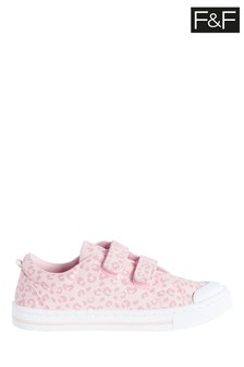 F&F Pink Animal Twin Velcro Shoes