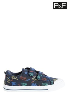 F&F Navy Transport Twin Velcro Shoes