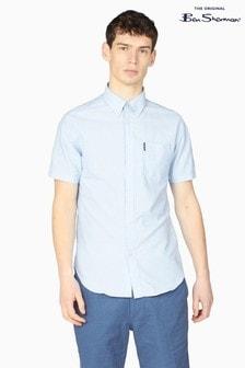 Ben Sherman Sky Short Sleeve Signature Organic Oxford Shirt