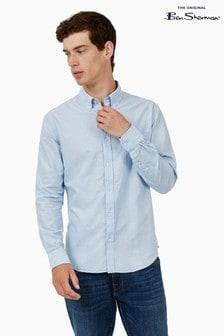 Ben Sherman Sky Signature Long Sleeve Organic Oxford Shirt